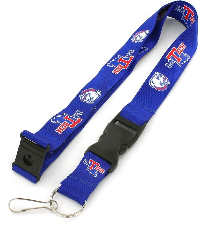 LOUISIANA TECH Officially NCAA Licensed Blue and Red Logo Team Lanyard
