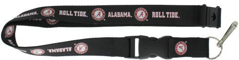 ALABAMA University Crimson Roll Tide Officially NCAA Licensed Black Logo Team Lanyard