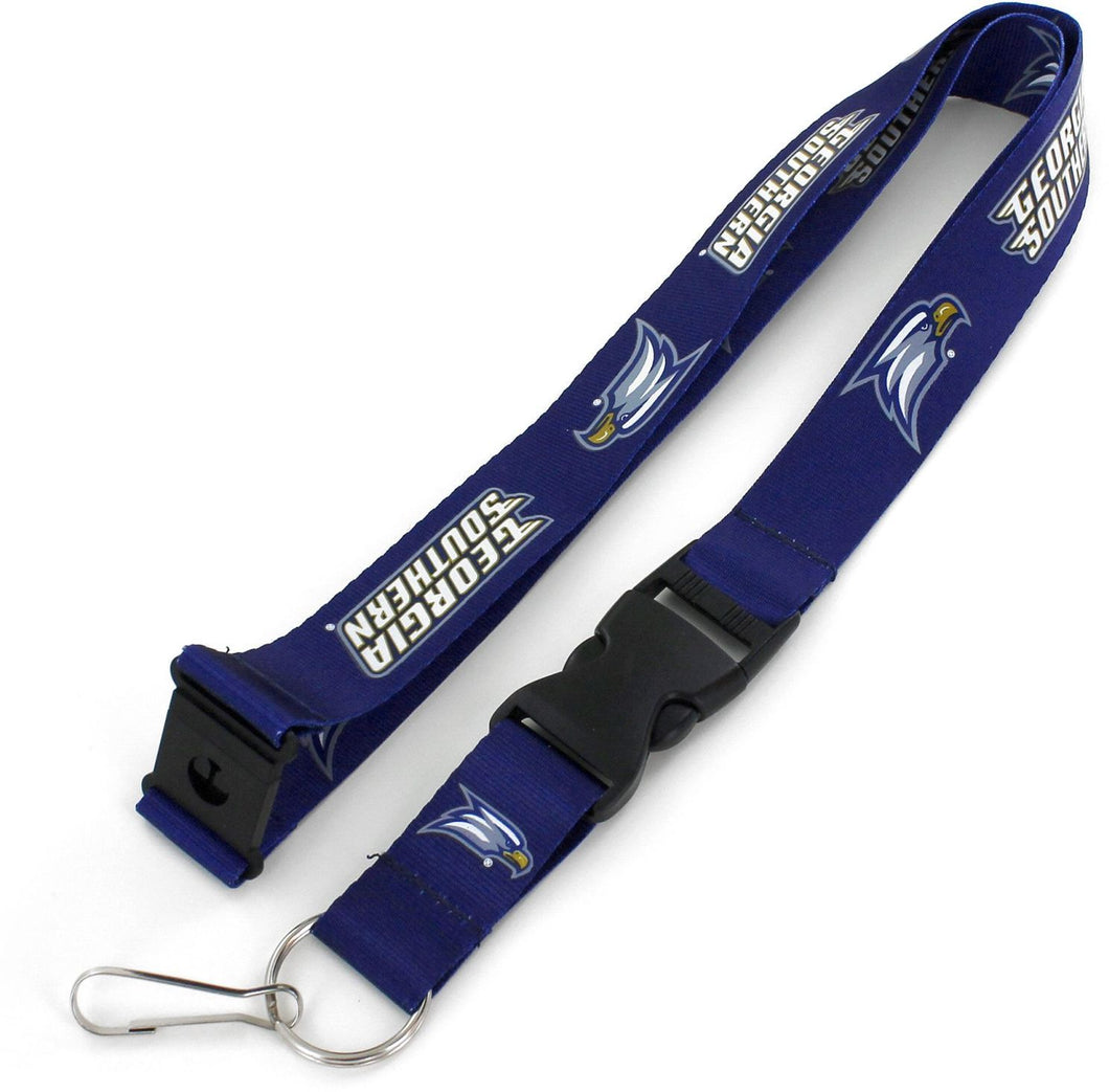 GEORGIA SOUTHERN Eagles Official NCAA Licensed Blue Logo Team Lanyard