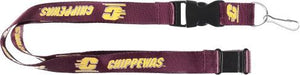 CENTRAL MICHIGAN Chippewas Official NCAA Licensed Maroon Logo Team Lanyard