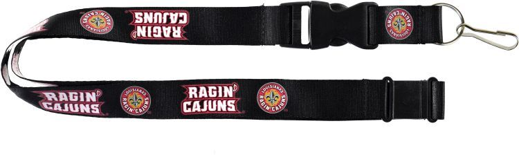 Louisiana University Lafayette Officially Licensed Black and Red NCAA Logo Team Lanyard