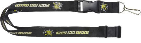 WICHITA STATE University Shockers Officially NCAA Licensed Logo Black Team Lanyard