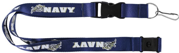 NAVAL ACADEMY Officially NCAA Licensed Logo Blue Team Lanyard