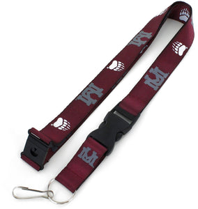 MONTANA Grizzlies Officially NCAA Licensed Logo Maroon Team Lanyard