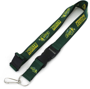 NORTH DAKOTA STATE Bisons Officially NCAA Licensed Logo Green Team Lanyard