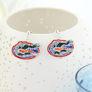 Florida Crystal Logo Earrings