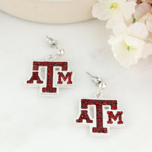 Texas A&M Crystal Logo Earrings