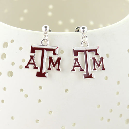 Texas A&M Enamel Logo Earrings