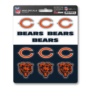 Chicago Bears 12pk Mini Decal Orange and Blue NFL Team ProMark Stickers