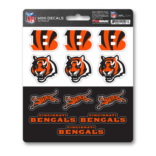 Team ProMark CIN Bengals 12pk Mini Decal