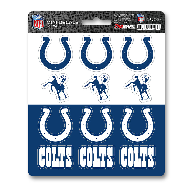 Team ProMark IND Colts 12pk Mini Decal