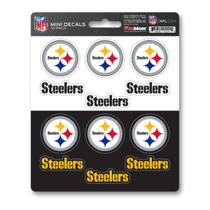 Team ProMark PIT Steelers 12pk Mini Decal