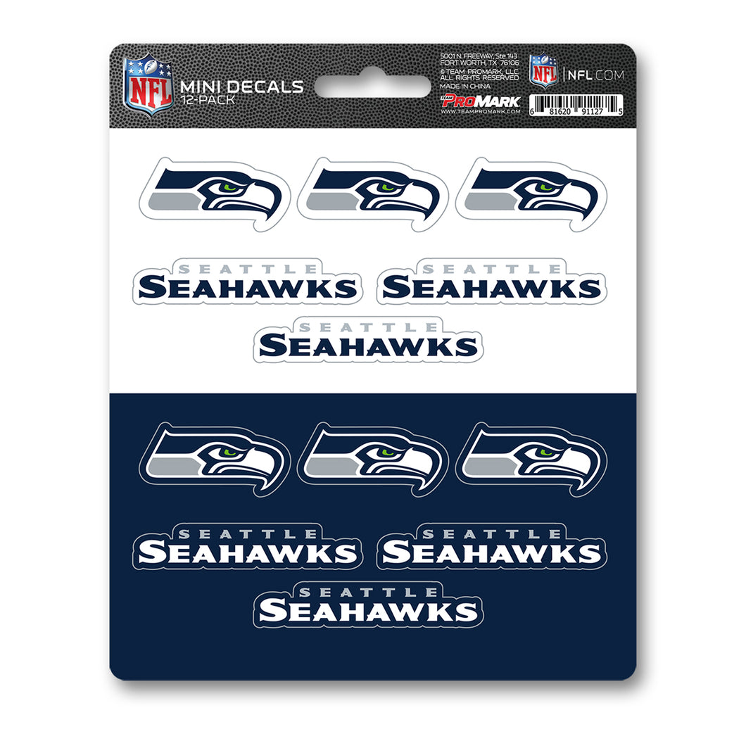 Seattle Seahawk 12pk Mini Decal Blue and Green Team ProMark
