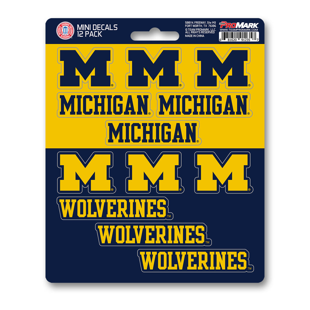 Team ProMark Michigan 12pk Mini Decals