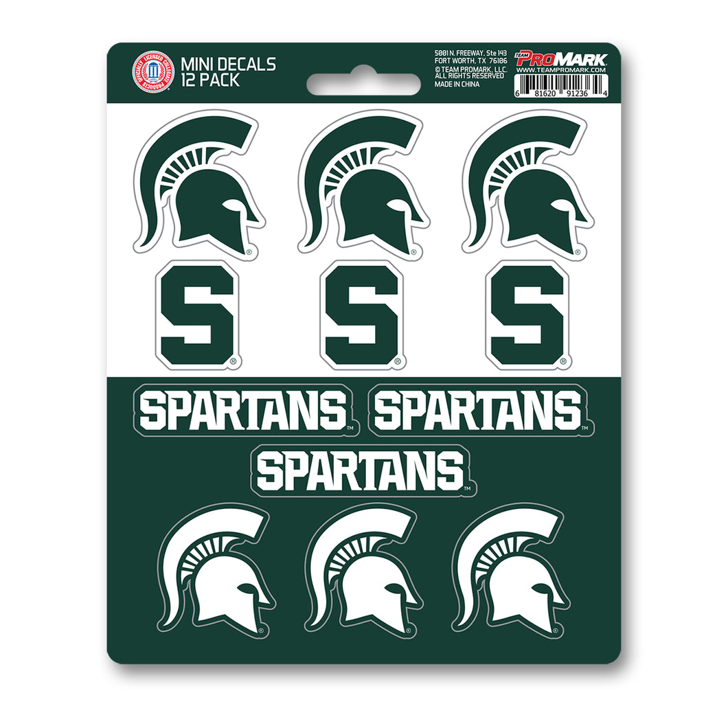 Team ProMark Michigan St 12pk Mini Decals
