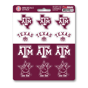 Team ProMark TX A&M 12pk Mini Decal