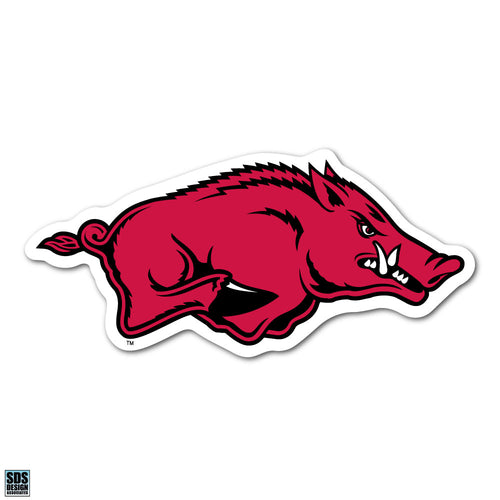 Collegiate Logo Super Durable Purse Sticker-University of Arkansas Fayetteville Razorback Cardinal Red and White