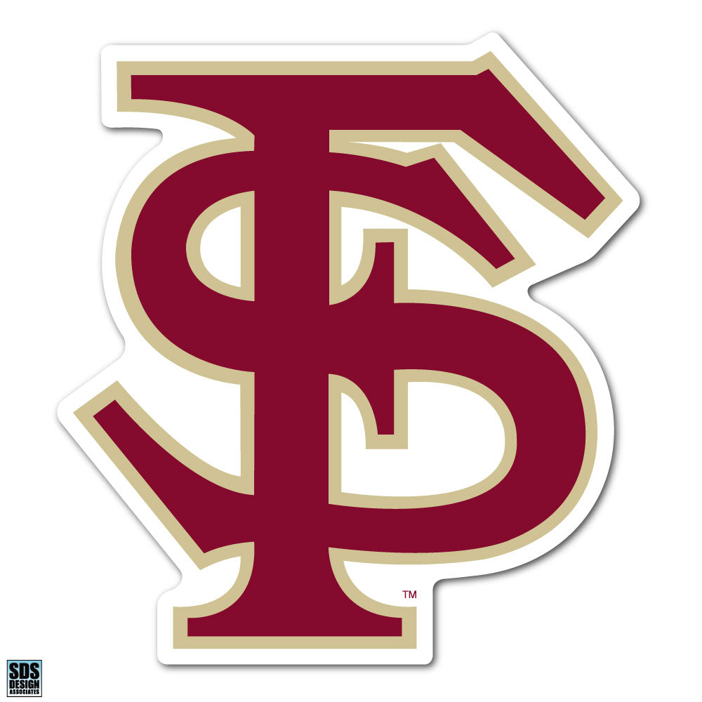 Florida State University NCAA Collegiate Logo Super Durable Purse Sticker~ FS Seminole Garnet and Gold Logo