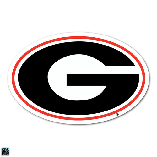 University of Georgia Bulldogs NCAA Collegiate Logo Super Durable Purse Sticker~ Red and Black G Logo