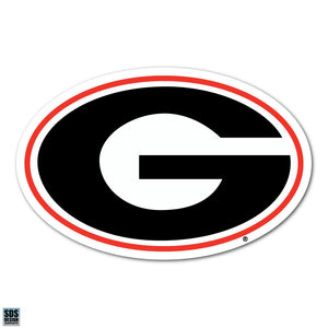 Collegiate Logo Super Durable Purse Sticker- University of Georgia Bulldogs Red and Black G Logo