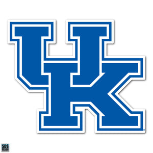 "University of Kentucky NCAA Collegiate Logo Super Durable Purse Sticker~ ""UK"" Wildcats Logo Blue and White"