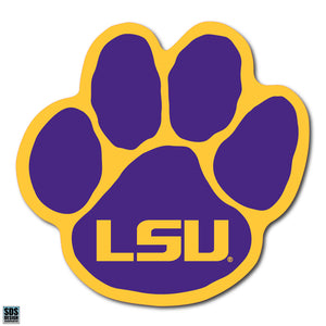 Collegiate Logo Super Durable Purse Sticker- Louisiana State University LSU Paw Purple and Gold