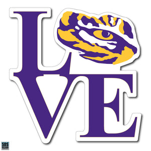 Collegiate Logo Super Durable Purse Sticker-Louisisana State University Love