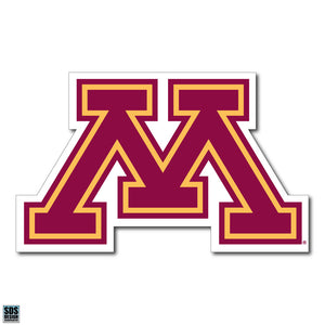 "University of Minnesota NCAA Collegiate Logo Super Durable Purse Sticker~ Golden Gophers ""M"" Maroon and Gold Logo"