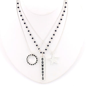 Dallas Cowboys Trio Necklace Set