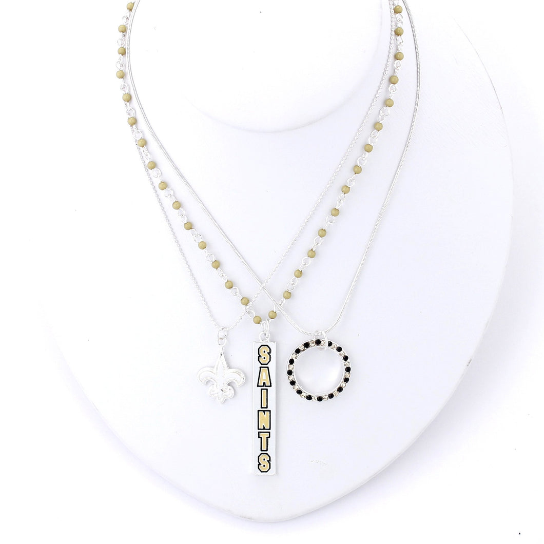 New Orleans Saints Trio Necklace Set