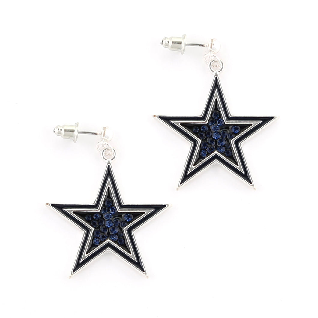 Dallas Cowboys Crystal Logo Earrings