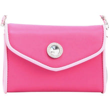 SCORE! Eva Classic Designer Stadium Approved Small Clutch Detachable Chain Crossbody Game Day Bag Event Team Sorority Purse - Hot Pink and Light Pink