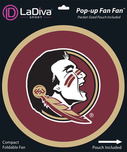 Pop-Up Fan Fan with Pouch-Florida State University - FSU Seminoles