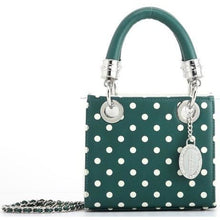 Jacqui Classic Satchel Polka Dot - Green and White