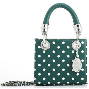 Score! Jacqui Classic Top Handle Crossbody Satchel  - Green and White