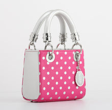 Score! Jacqui Classic Top Handle Crossbody Satchel - Pink and Silver