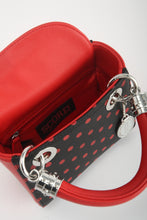 Score! Jacqui Classic Top Handle Crossbody Satchel  - Black and Red