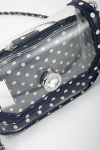 Chrissy Small Clear Crossbody Stadium Compliant Game Day Bag - Navy Blue and White