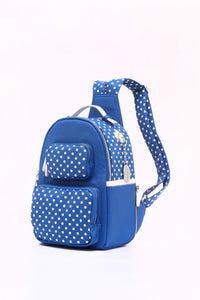 Natalie Michelle Backpack Large - Imperial Blue and White