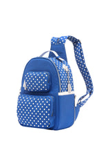 Natalie Michelle Backpack Medium - Imperial Blue and White