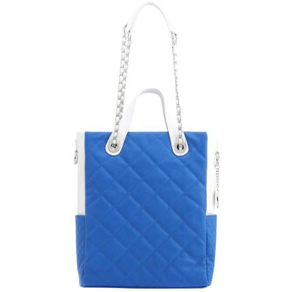Kat Travel Tote - Imperial Blue and White