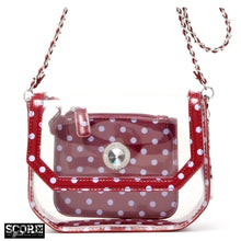 Chrissy Small Clear Crossbody Stadium Compliant Game Day Bag - Maroon and Lavender ~ Sigma Kappa