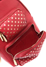 SCORE! Natalie Michelle Backpack Large - Maroon and Gold