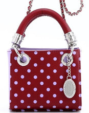 SCORE! Jacqui Classic Top Handle Crossbody Satchel  - Maroon and Lavender