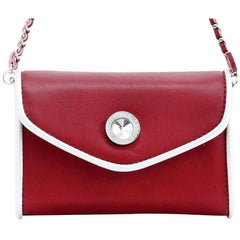 Eva Classic Clutch - Aurora Pink and French Blue