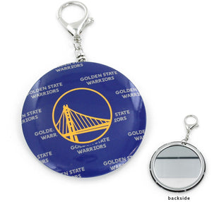 Golden State WARRIORS TEAM Logo COLOR MIRROR KEYCHAIN