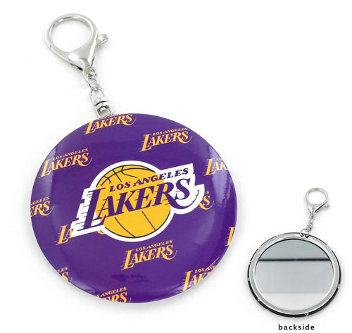 LA LAKERS TEAM Logo COLOR MIRROR KEYCHAIN