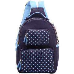 Natalie Michelle Backpack Large - Navy Blue and Light Blue