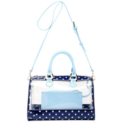 Moniqua Clear Satchel - Navy Blue and Light Blue