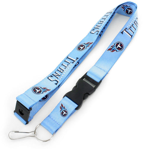 Tennessee Titans Officially Licensed Blue, Light Blue and Red NFL Logo Team Lanyard